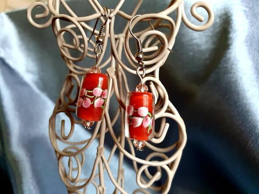 Cercei Handmade Orhidee