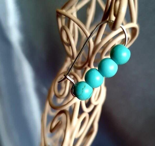Cercei Handmade Turquoise Drops