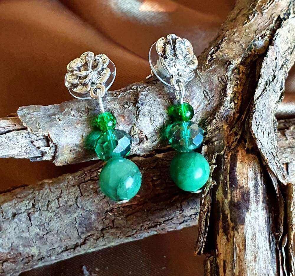 Cercei Handmade Green Vintage