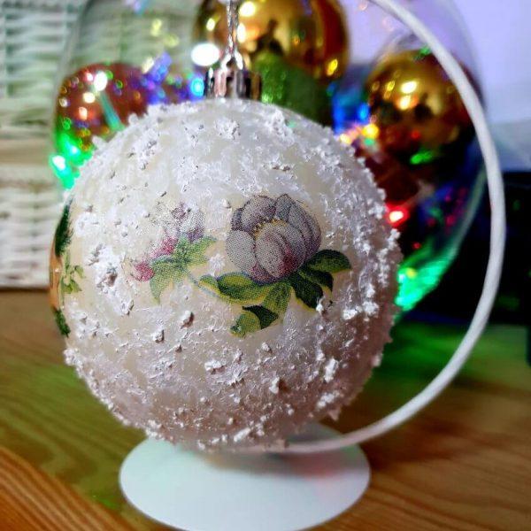 Glob Decoupage Flori de Craciun