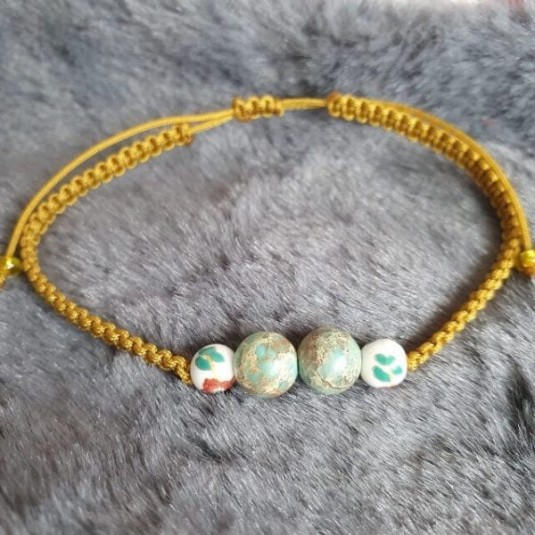 Bratara Handmade Deep Yellow