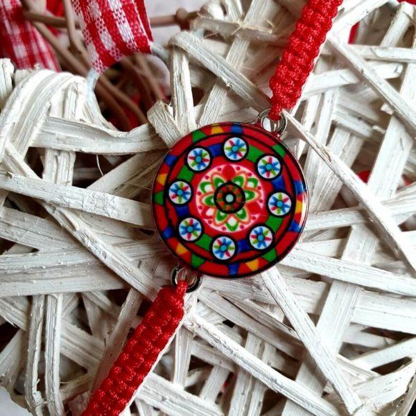 Bratara Handmade Etno Red