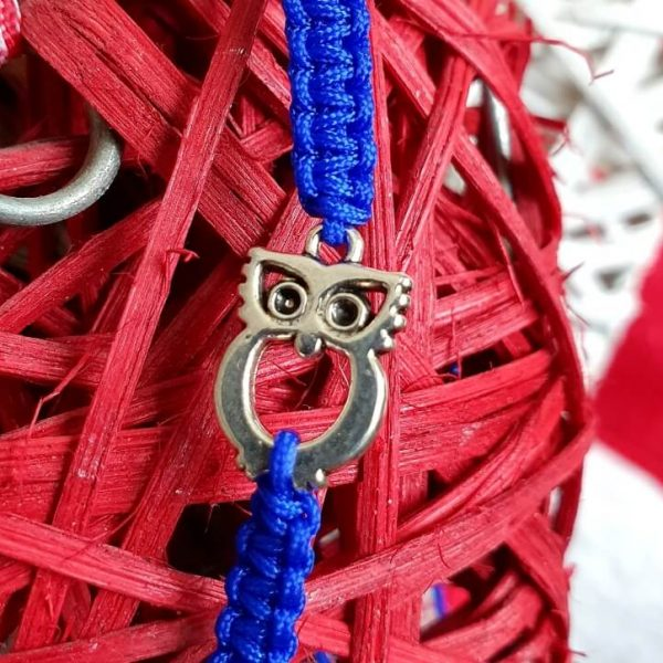 Bratara Handmade Blue Owl