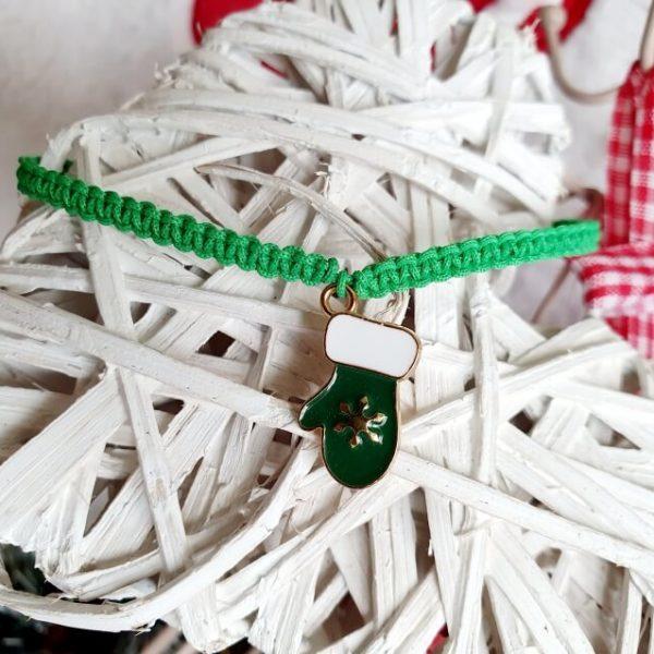 Bratara Handmade Green Glove