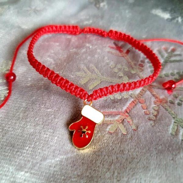 Bratara Handmade Red Glove