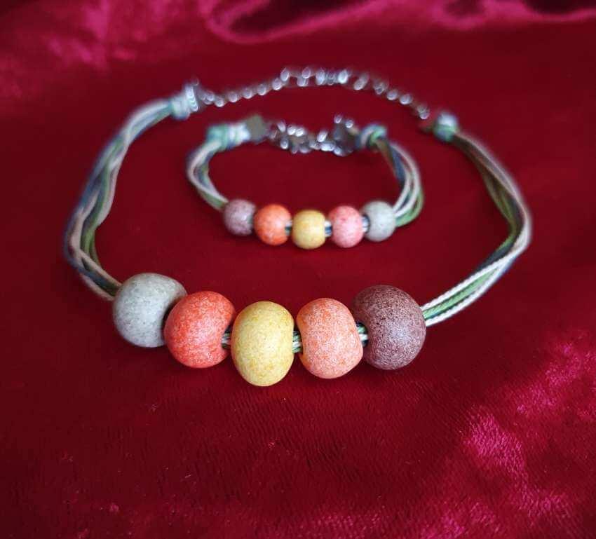Set Handmade Exotic Stone