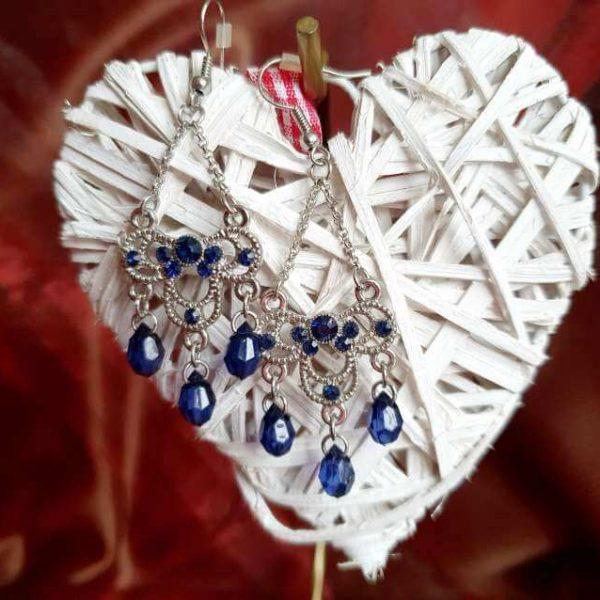 Cercei Handmade Blue Elegant