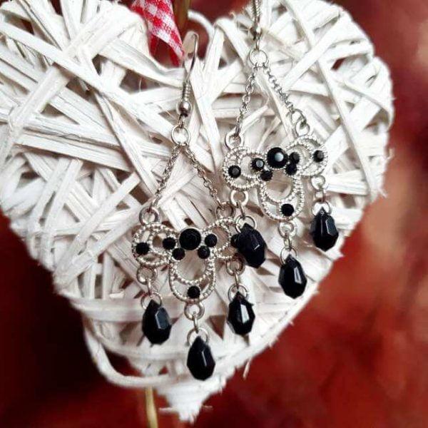 Cercei Handmade Black Elegant
