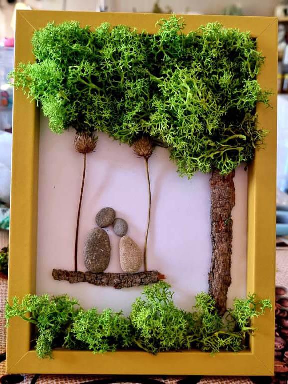 Tablou licheni - Iubirei