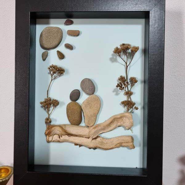 Tablou cu pietre - Indragostiti