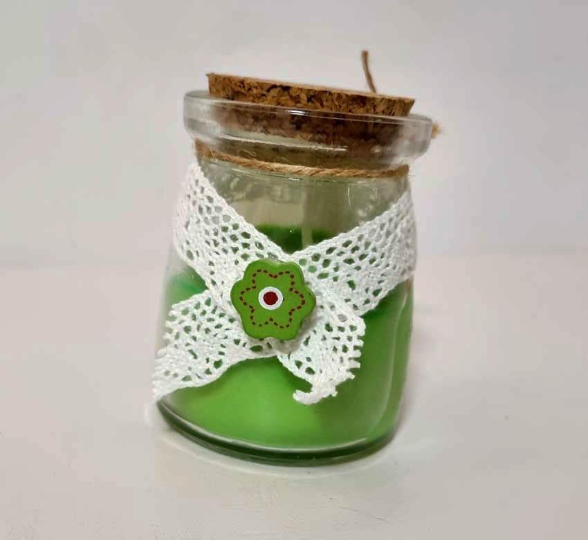 Lumanare artizanala Green